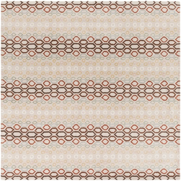 Hand-tufted Bubbles Wool Area Rug - 8' Square