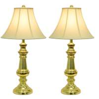 Touch Control Polished Brass Table Lamps (Set of 2) - Free ...