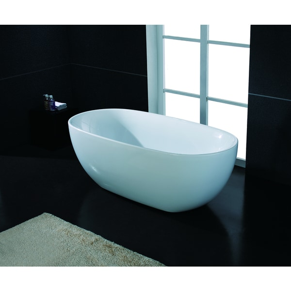 AKDY 67 Inch OSF277 AK Oval Europe Style White Acrylic Free Standing Bathtub Free Shipping