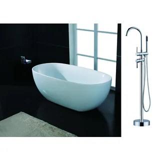 Fusion Freestanding 59 Inch Acrylic Bathtub 16467059 Shopping Great Deals On