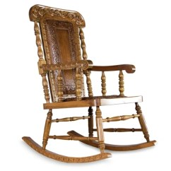 Handmade Rocking Chairs Office Depot Chair Mats Shop Mohena Wood And Leather Royal Colonial Peru On Sale Free Shipping Today Overstock Com 9649029