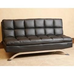 Newport Sofa Convertible Bed Cheap Leather Sofas Recliner Abbyson Vienna Black Euro Lounger - Free ...