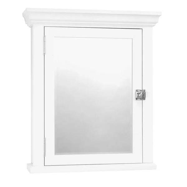 Shop White Colonial Mirrored Medicine Cabinet  Free