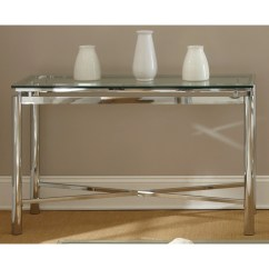 Natal Chrome And Glass Sofa Table Narrow Side For Uk Shop Greyson Living Metal