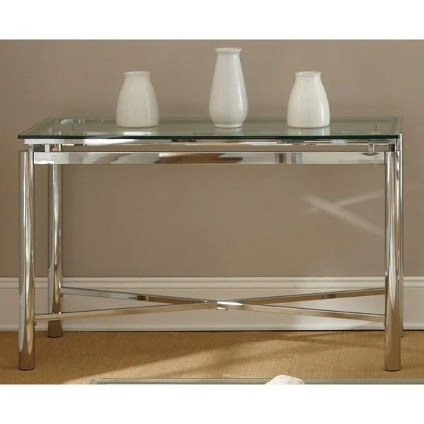 natal chrome and glass sofa table bed inoac harga 2018 greyson living metal/glass - free ...