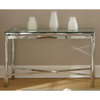 Greyson Living Natal Chrome and Glass Sofa Table - Free ...