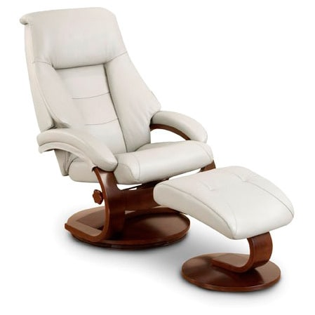 leather swivel recliner chair and ottoman reliance stand shop mandel p puddy top grain with free shipping today overstock com 9673212