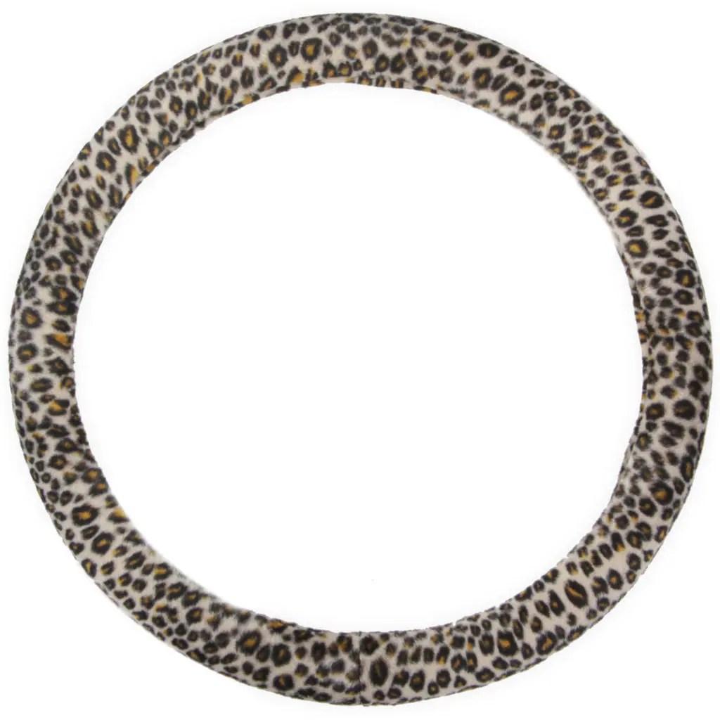 BDK Original Animal Print Cheetah Steering Wheel Cover  15-inch Universal Fit /
