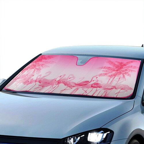 BDK Original Flamingo Sun Shade for Car Universal Fit  Free Shipping On Orders Over 45