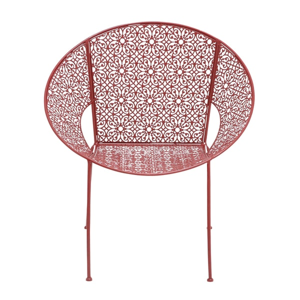 Shop Red Metal Patio Chair  Free Shipping Today