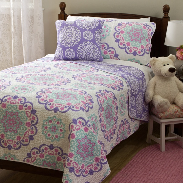 Shop Vivian Cotton 4 Piece Quilt Set Free Shipping Today