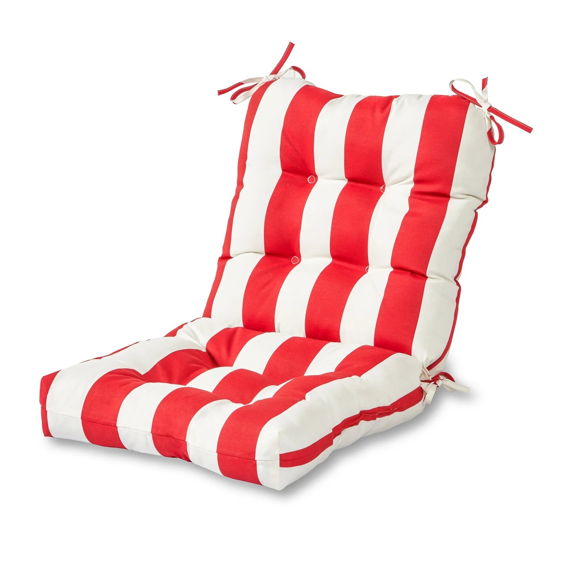 brentwood originals chair pads webbing for lawn chairs outdoor cabana stripe cushion ebay