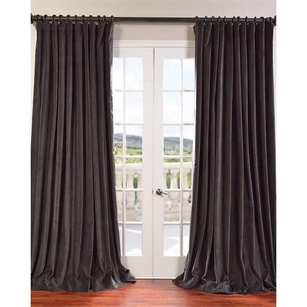 Exclusive Fabrics Extra Wide Vintage Cotton Velvet Curtain Panel