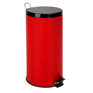 red kitchen trash can taylor scale buy cans online at overstock com our best honey do 30 liter round step ruby