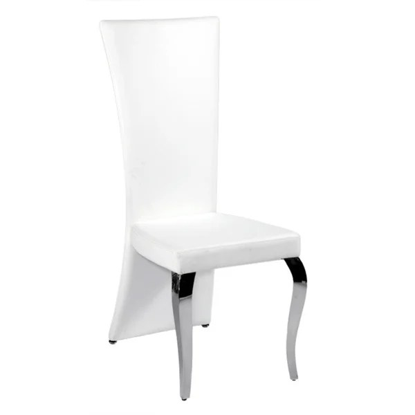 high back dining chair diy bean bag patterns shop somette tabitha white rectangle set of 2 free shipping today overstock com 9746378