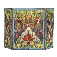 Shop Tiffany Style Dragonfly Design Decorative Fireplace ...