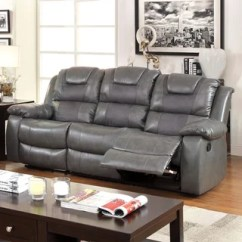 Tribecca Home Eland Black Bonded Leather Sofa Set Fabric Cleaning Services Mumbai Furniture Of America Rembren Grey Reclining ...