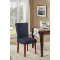 HomePop Navy Blue Textured Parson Dining Chair (Set of 2 ...