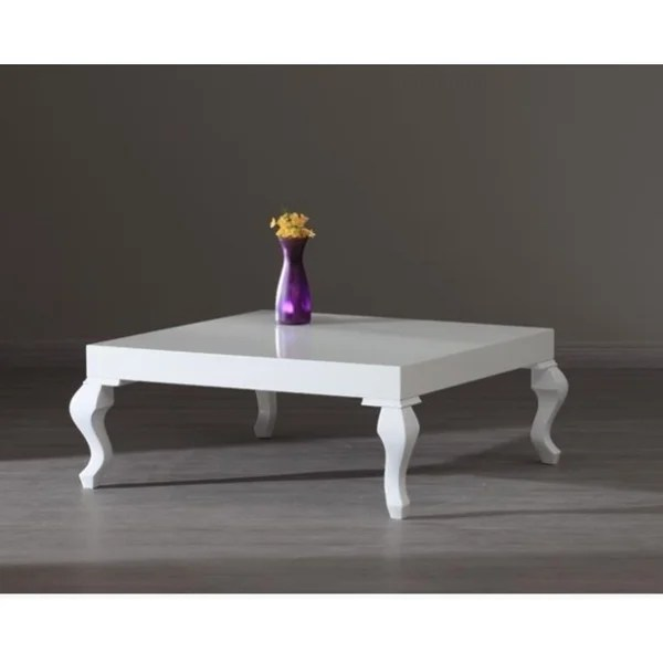 Shop Lukens White Lacquer Contemporary Coffee Table  Free