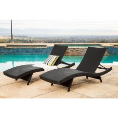 Wicker Chaise Lounge Chairs Outdoor Beach Umbrellas And Shop Abbyson Palermo Black Set Of 2
