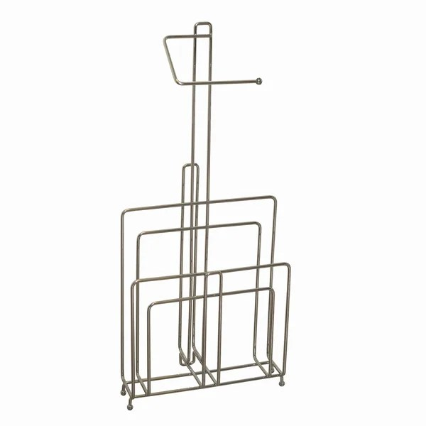 Shop Zenith Chrome Toilet Paper Stand and Magazine Rack