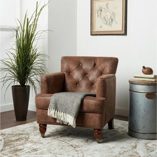 vintage living room furniture small decoration pictures buy chairs online at overstock com our best abbyson tafton antique brown fabric club chair