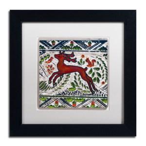 Patty Tuggle 'Vintage Christmas Deer' Framed Matted Art