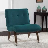 Mid Century Teal Armless Chair - 16979528 - Overstock.com ...