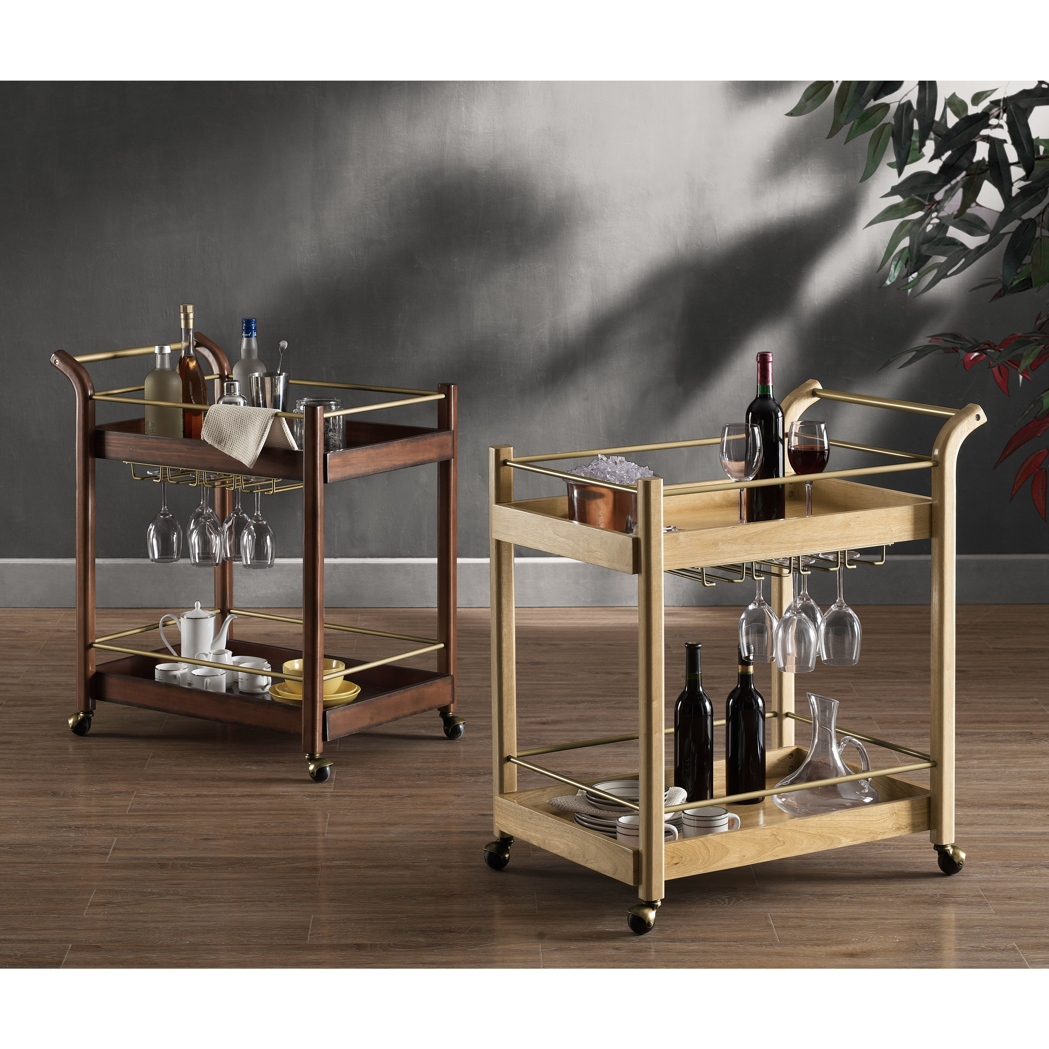 Carson Carrington I Love Living Wood Bar Cart Overstock 9816577