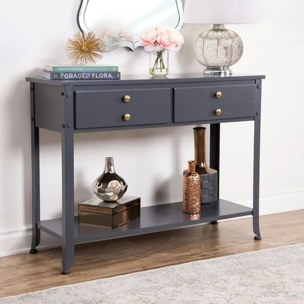 sale sofa tables stressless clearance shop abbyson antoni antiqued blue console table on