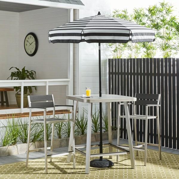 Italian Bistro 6-foot Acrylic Striped Patio Umbrella