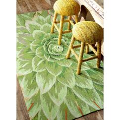 Green Kitchen Rug Island Modern Shop Nuloom Handmade Bold Abstract Floral 5 X 8 X27