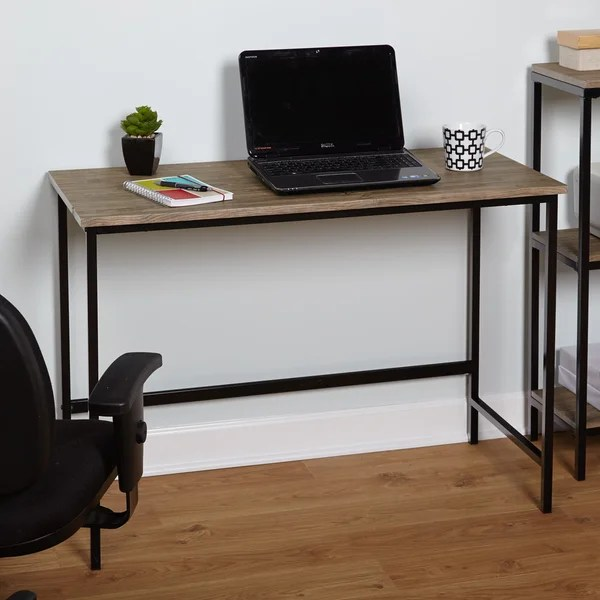 Simple Living Piazza Wood and Metal Desk  Free Shipping