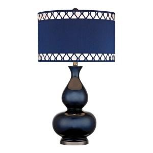 Dimond Navy Blue 1-light Gourd Lamp