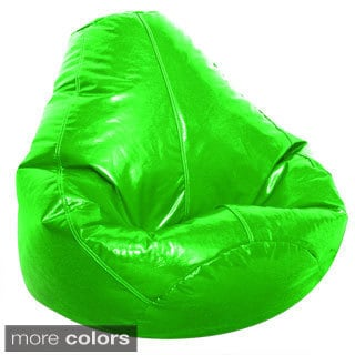 green bean bag chair outdoor baby portable high buy vinyl chairs online at overstock com our best living jordan manufacturing adult wetlook collection