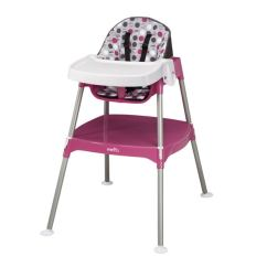 Badger Basket Evolve High Chair American Company Shop Evenflo Dottie Rose Pink Convertible 3 In 1 Free