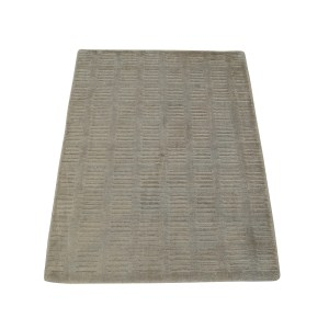 Hand Loomed Viscose Rayon from Bamboo Oriental Beige Modern Area Rug