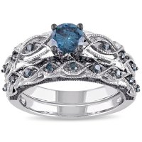 Shop Miadora Signature Collection 10k White Gold 1ct TDW ...