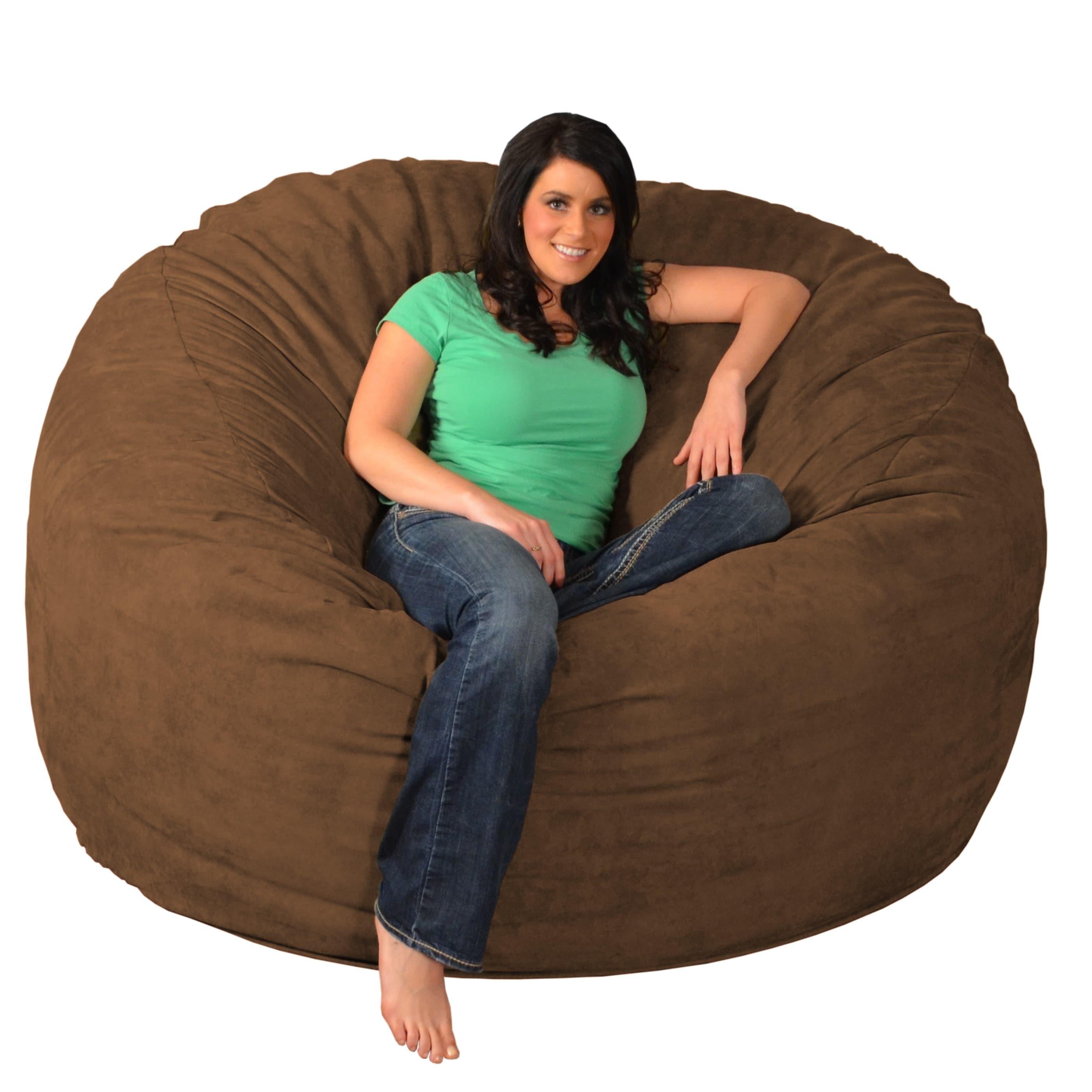 6 foot bean bag chair small swivel chairs for living room giant memory foam ebay