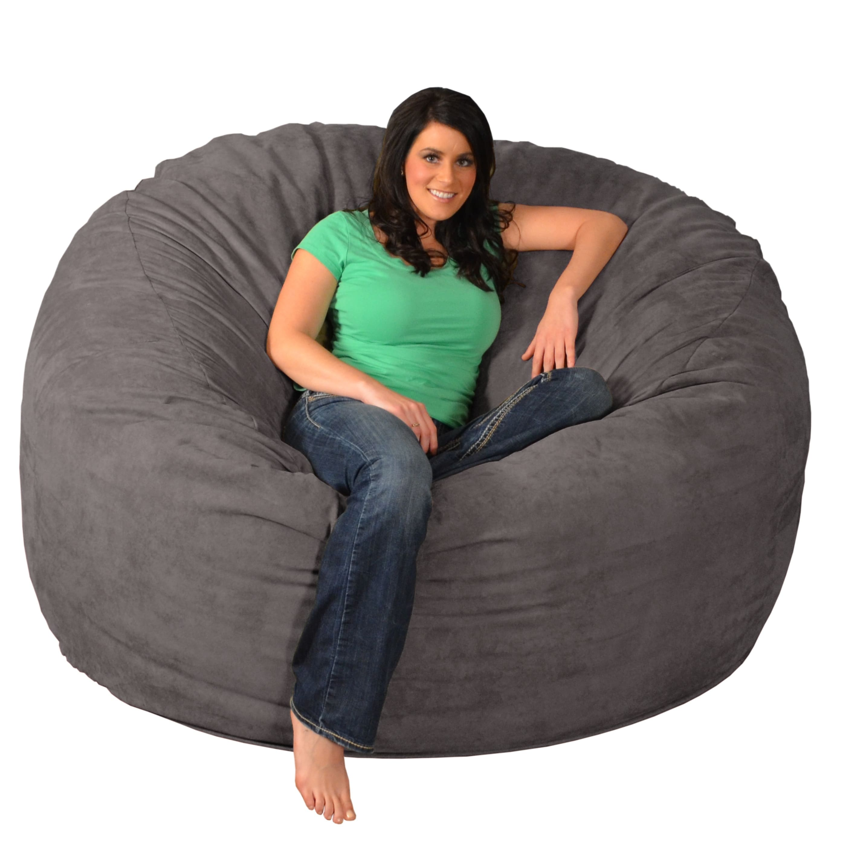 Foam Bean Bag Chair Giant Memory Foam Bean Bag 6 Foot Chair Ebay