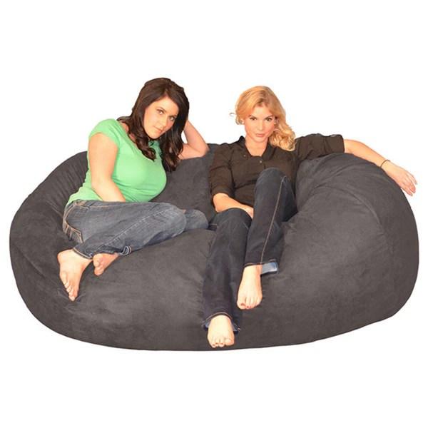 6 foot bean bag chair chairs adults shop porch den green bridge memory foam lounger amp