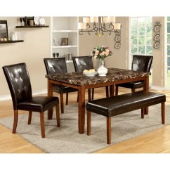 Antique Oak Dining Chairs Mickey Mouse Folding Chair Shop Furniture Of America Hughfort Faux Marble Table Free Shipping Today Overstock Com 9937262