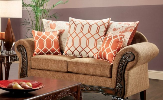 Shop Furniture Of America Hoke Transitional Brown Fabric