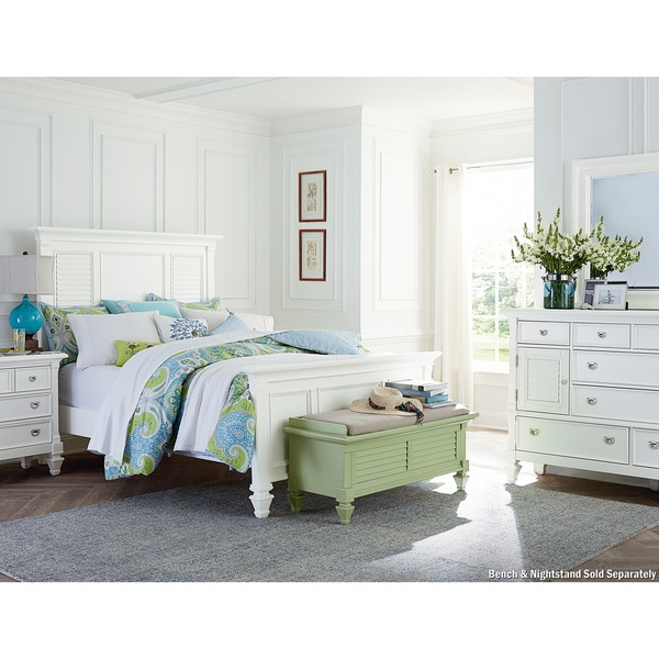 Art Van Breeze White 3piece Queen Bedroom  Overstock