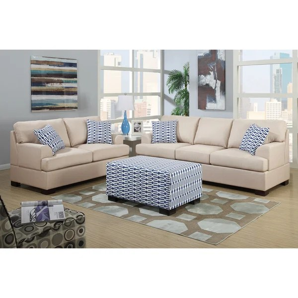 Shop Moss 2piece Blended Linen Living Room Set with