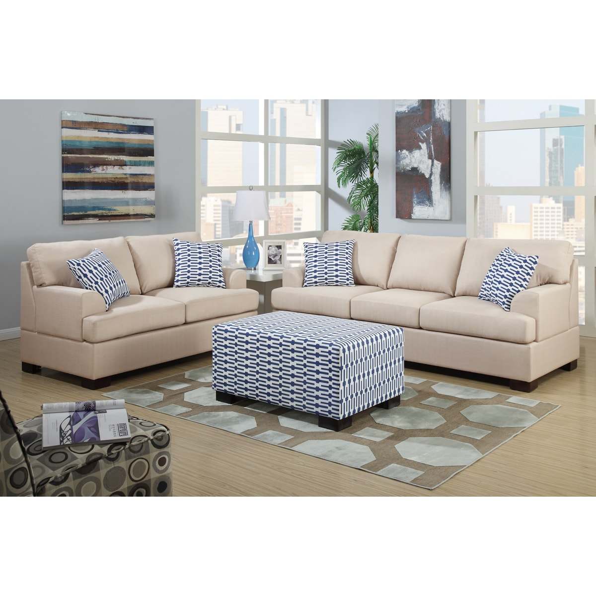 montreal sectional sofa in slate all weather rattan sets ottoman and matching pillows home ideas