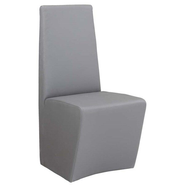modern gray dining chairs workout office chair shop somette cressida grey fully upholstered set of 2 free shipping today overstock com 9959141