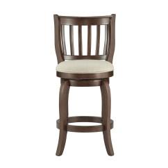 24 Inch Counter Chairs Folding Recliner Chair Ali Modern Linen High Back Height Swivel