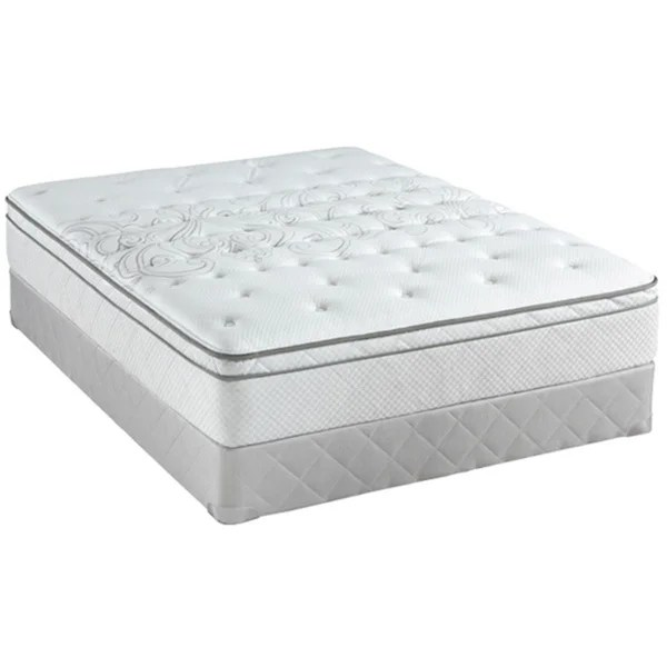 sealy posturepedic classic crystal city 11 5 inch full size plush pillow top mattress set