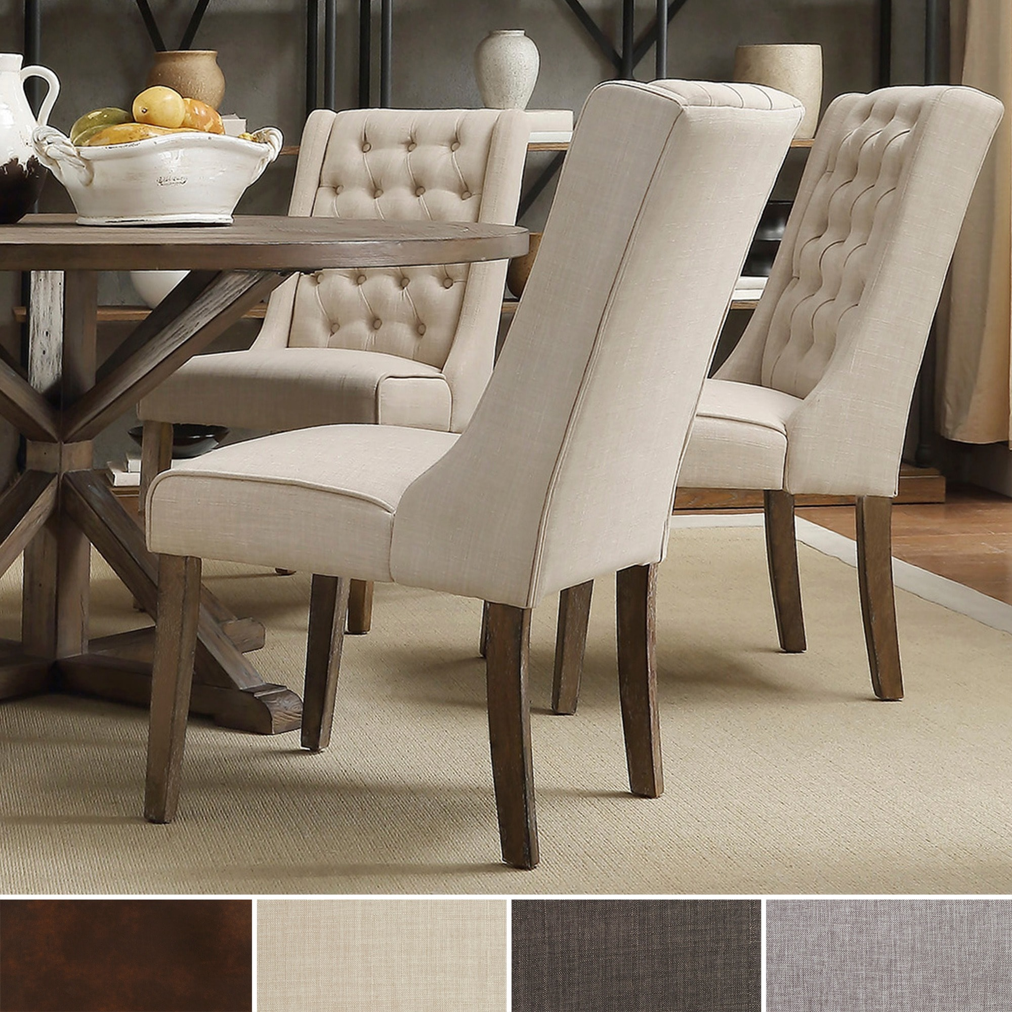 1Cheap INSPIRE Q Evelyn Tufted Wingback Hostess Chairs
